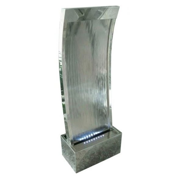 Peking Stainless Steel Water Feature with LED Lights