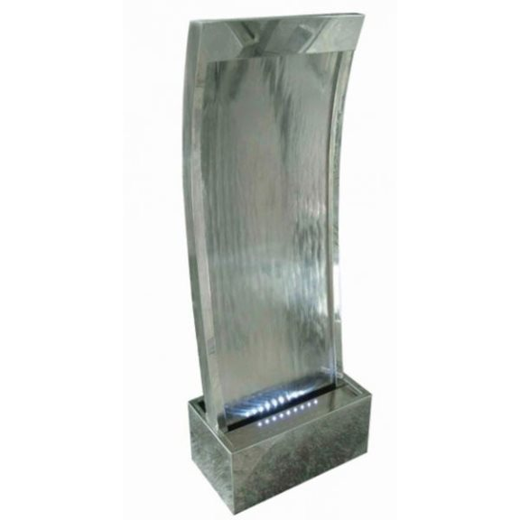 Cairo Stainless Steel (concave) Water Feature with LED Lights