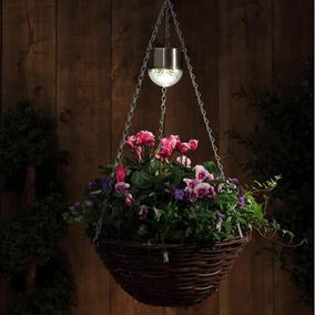 Set of 2 Solar Hanging Basket Lights