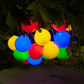 Multi-function Solar Powered Multicolored Festoon Lights
