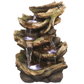 6 Fall Driftwood Water Feature with LED Lights