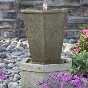 Tuscan Hexagonal Urn Fountainette Water Feature