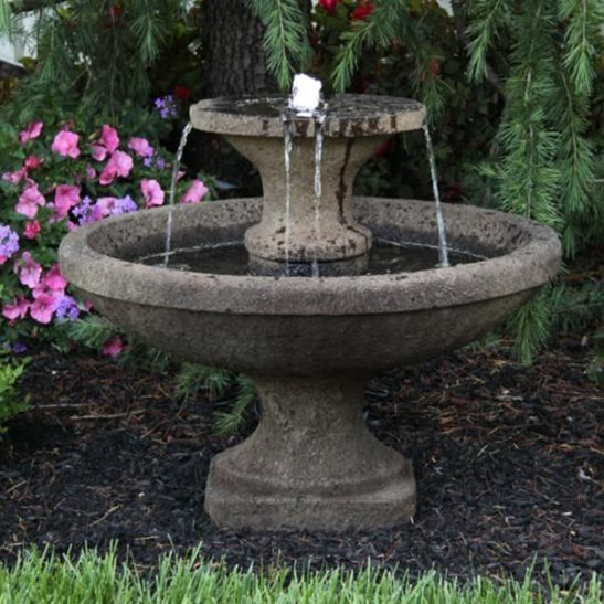Two Tier Bella Lit Fountain Water Feature
