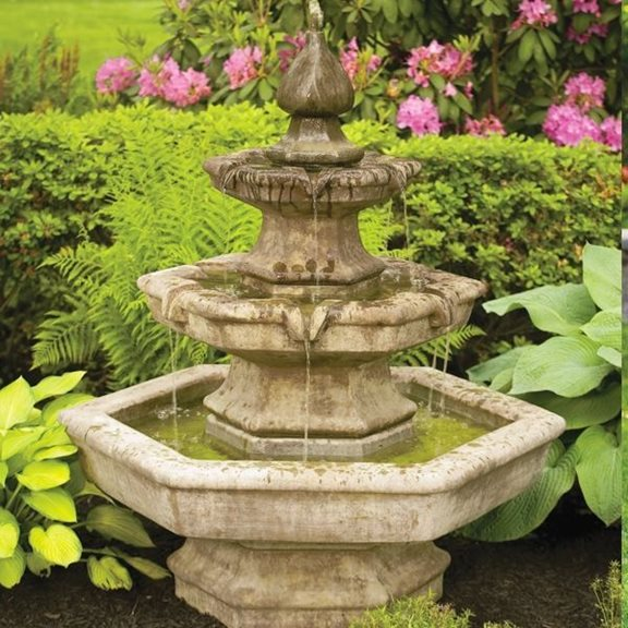 Three Tier Spade Fountain