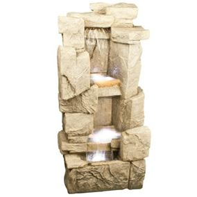 Carved Sandstone Rock Lit Water Feature