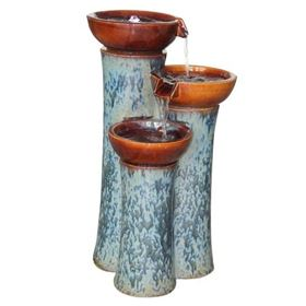 Chavella Ceramic Fountain Water Feature with LED Lights