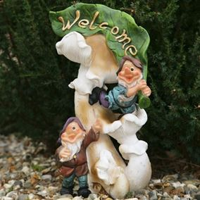 Welcome Gnomes Garden Ornament