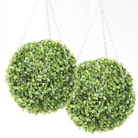 30cm Leaf Effect Topiary Ball (Twin Pack)