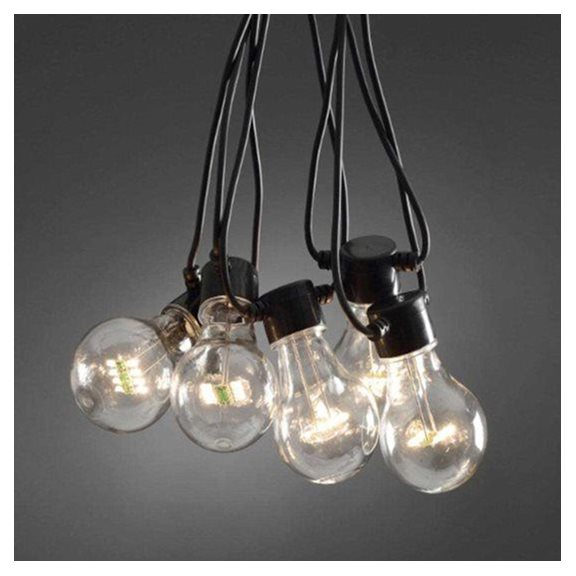 additional image for 10 Traditional Clear Festoon Outdoor Party Lights (Starter Set)