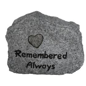 Remembered Always Garden Memorial (Grey Granite)