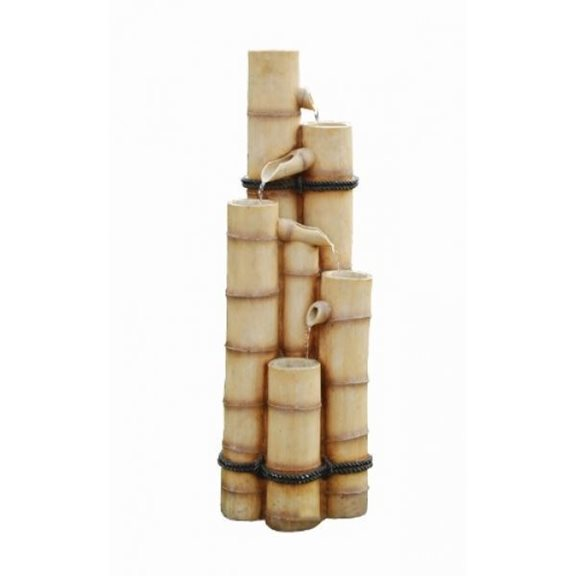 additional image for Bamboo Poles Solar Powered Water Feature with Battery Back Up