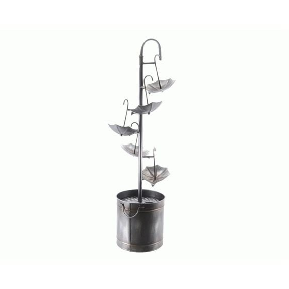 additional image for Iron Umbrella Pouring Water Feature