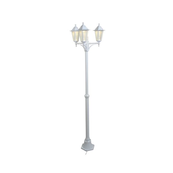 12V LED White Garden Lamp Post (Low Voltage Lighting System)