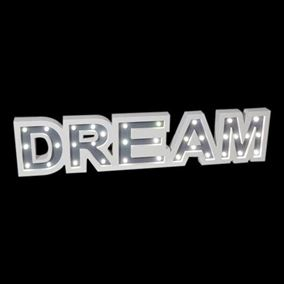 Wooden LED Lit Dream Sign (68cm)