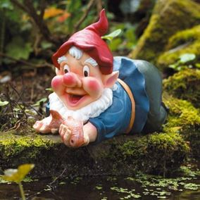 Caught in the Act Gnome Pond Ornament