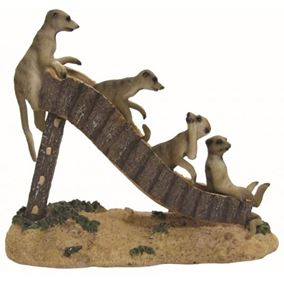 Garden Meerkats On Slide Ornament