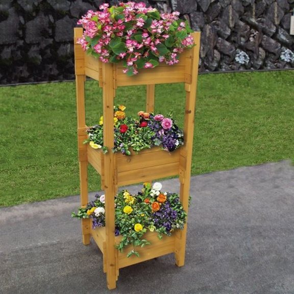 3 Tier Wooden Garden Planter