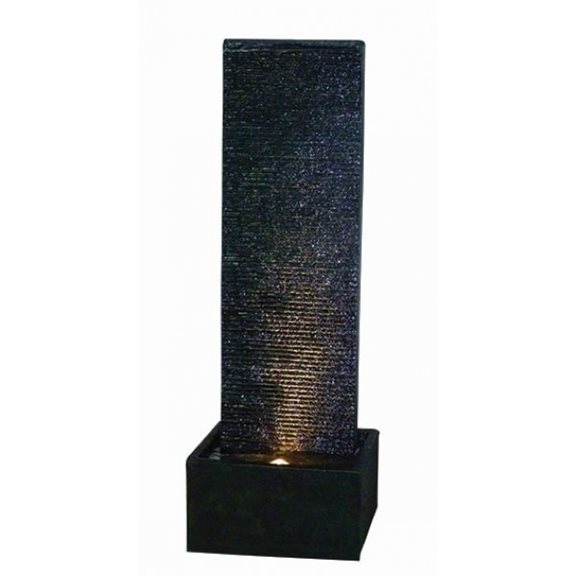 Black Ripple Sheet Lit Water Feature with LED Lights