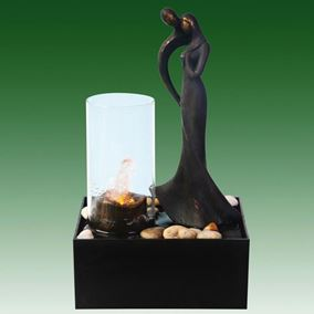 Couple with Candle Effect Indoor Water Feature