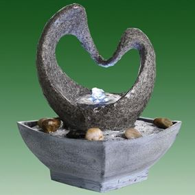 Heart Shaped Arch Lit Indoor Water Feature