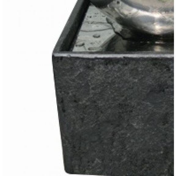 additional image for Adelaide LED Lit Stainless Steel Water Feature (Granite Base)