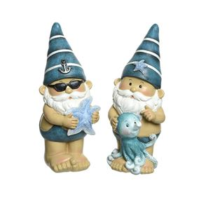 Nautical Gnome Couple with Octopus and Starfish (Twin Pack)
