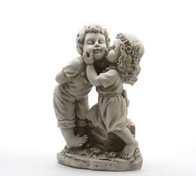 Children Kissing Garden Ornament