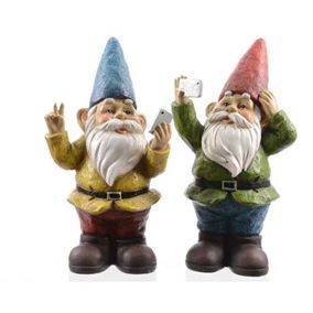 Cool Garden Gnomes Taking Selfies (Twin Pack)