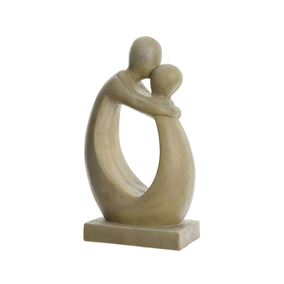 Hugging Couple Sandstone Garden Statue