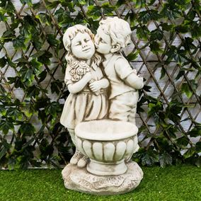 Classic Kissing Children Garden Planter