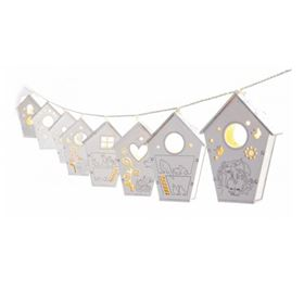 10 LED Wooden Birdhouse Decorative Lights