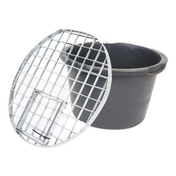 additional image for Extra Small Round Galvanised Steel Water Feature Grid (54cm)