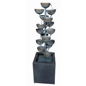 Modena Zinc Metal Cascading Cups Water Feature