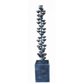 Pisa Zinc Metal Cascading Cups Water Feature
