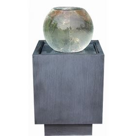 Torino Zinc Metal Vortex LED Lit Water Feature