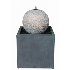 Liverno Zinc Metal Sphere Water Feature