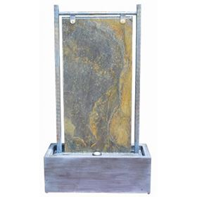 Treviso Cascade Zinc Metal & Granite Water Feature