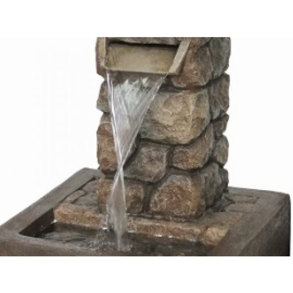 additional image for Brick Effect Column with Flame Effect Water Feature