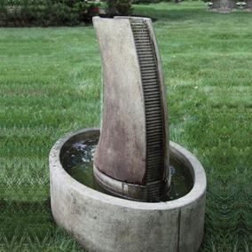 Tranquil Column Fountain Cast Stone Water Feature