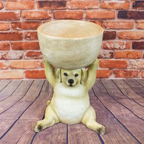 Sitting Dog Garden Planter
