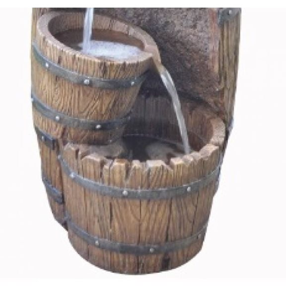 additional image for 3 Fall Barrel with Pump Water Feature (Solar Powered)