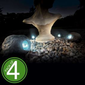 Large Solar Rock Spotlight (4 Pack)