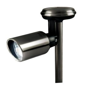 Stainless Steel Solar Garden Spotlight (Four Pack)