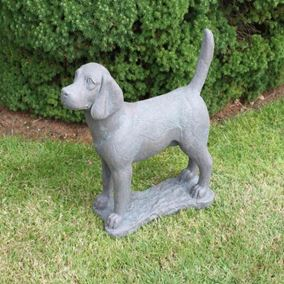 Beagle Cast Stone Garden Ornament