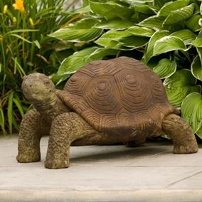 Large Tortoise Cast Stone Garden Ornament