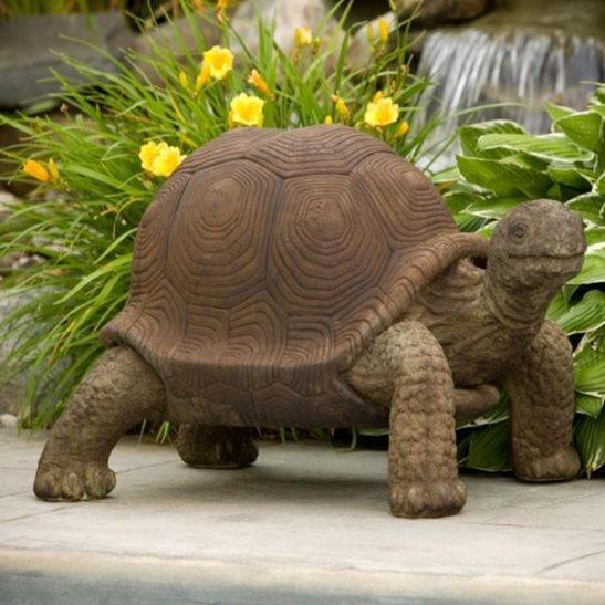 Giant Tortoise Cast Stone Garden Ornament