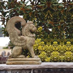 Griffin Cast Stone Garden Ornament