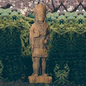 Cigar Store Indian Cast Stone Garden Ornament