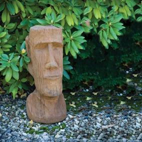 Easter Island God Cast Stone Garden Ornament
