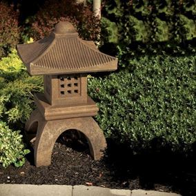 Square Pagoda Cast Stone Garden Ornament